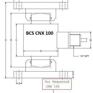 Cảm biến lực nén CNX-100 BCS